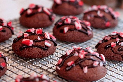 Double Chocolate Peppermint Crunch Cookies (from Cook, Snap, Repeat!)