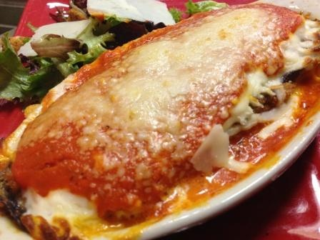 vegetarian delight, eggplant parmesan | Restaurant Food Photos | Pint ...