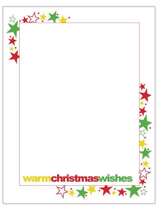 Warm Christmas Wishes - Christmas letter template
