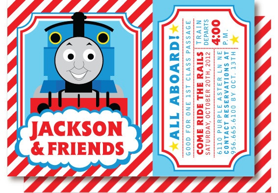Thomas The Train Birthday Invites as best invitation template
