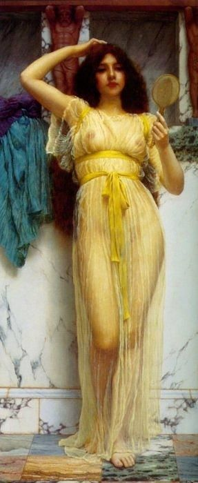"""The Mirror"" by Godward"