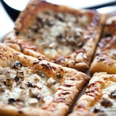 Goat Cheese, Mozzarella & Mushroom Puff | Vegetarian | Pinterest