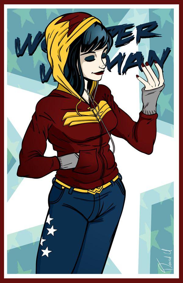 Wonder Woman Hoodie by ~Thebit07