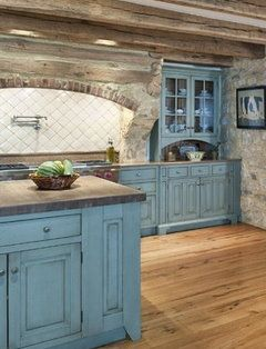 blue cabinets with stain wash cool house stuff pinterest