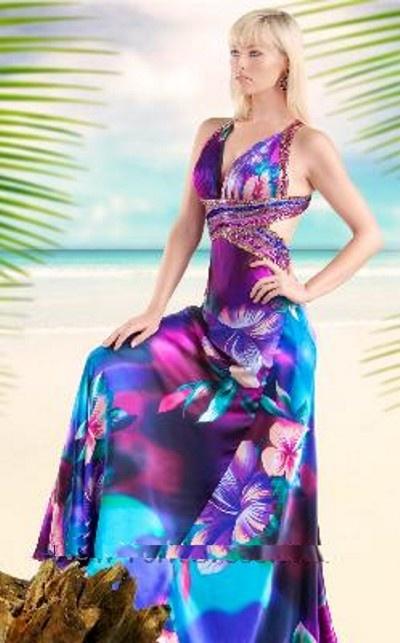 Tropical wedding dresses 1 wedding clothes pinterest for Tropical wedding bridesmaid dresses