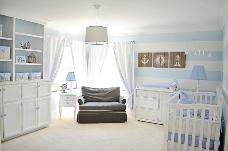 Sweet and soothing nautical nursery