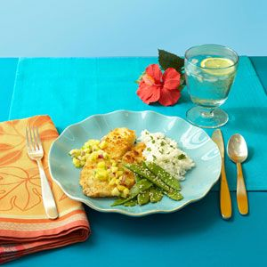 Macadamia nut-crusted tilapia with pineapple salsa - an easy meal that ...