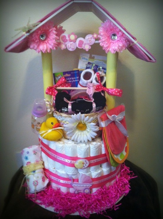 diaper wishing well baby shower crafts and ideas pinterest