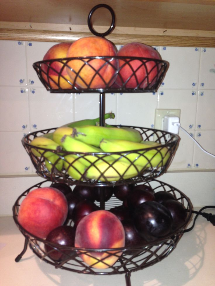 Use a desert tier for a fruit bowl kitchen creations pinterest - Tiered fruit bowl ...