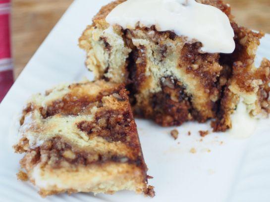 Coffee Cake Cinnamon Rolls with Orange Frosting #vegan