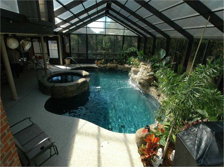 Pin by amanda kellems on outdoors pinterest for Luxury pools with waterfalls