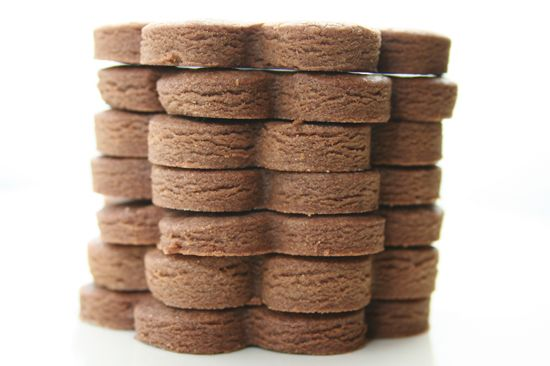 brownie roll-out cookies with espresso. still soft and chewy but in a ...