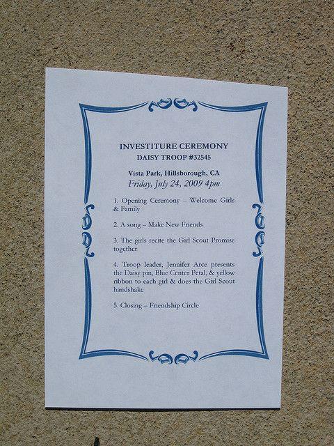Daisy Investiture Ceremony program idea | Daisy Girl ...