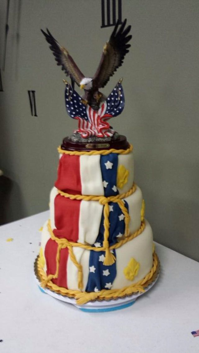 eagle court of honor cake