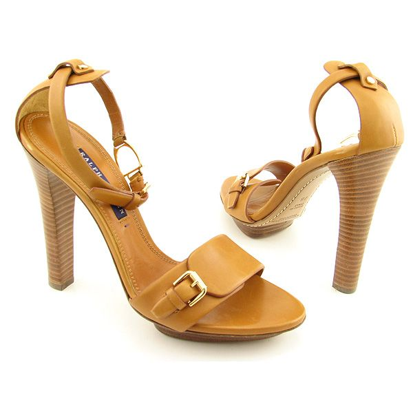 RALPH LAUREN POLO Pasha Heels Slides Shoes Brown Womens from marsshoes