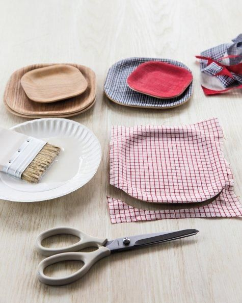 Cloth Decoupage Tray How-To from #marthastewartcrafts