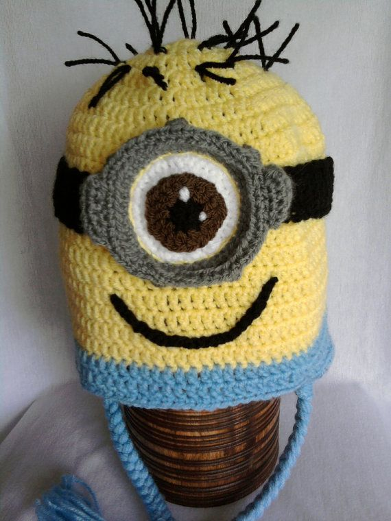 Minion crochet hat Crochet/knitting Pinterest