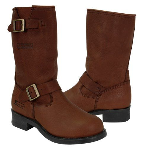 xelement womens brown engineer boot new top shoes