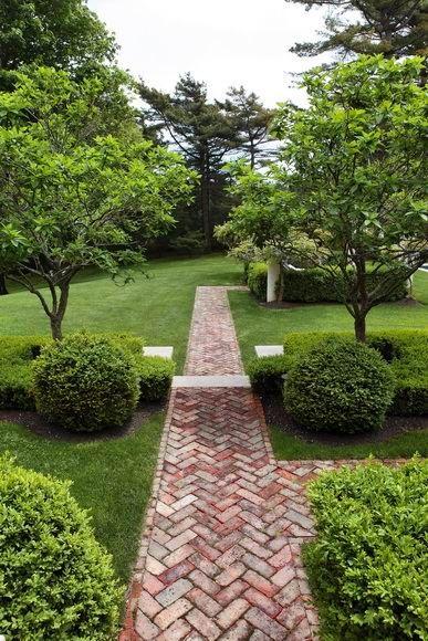 Brick Garden Path Ideas Photograph Path Of Herringbone Bri