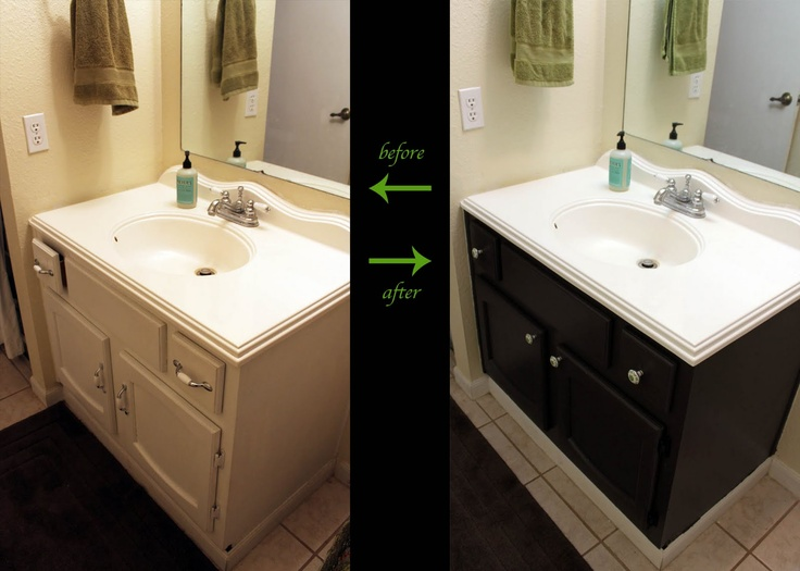 Bathroom Vanity Before And After For The Home Pinterest