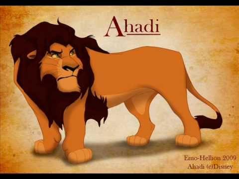 Ahadi, father of Mufasa and Taka (Scar) | Lion king ...