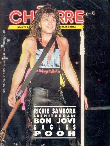 Pin by bea fitzgerald stevens on bon jovi magazine covers for Chitarre magazine