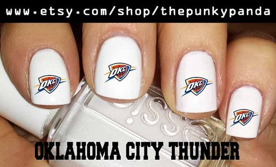 Get 1 Free - OKLAHOMA CITY Thunder Nail Decals OR You Pick Team