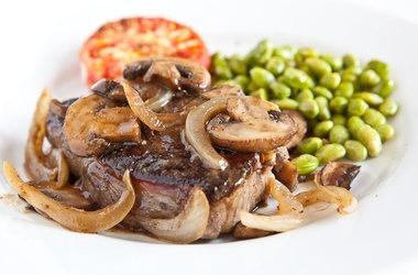 Porterhouse Steak with Whisky Mushroom Sauce