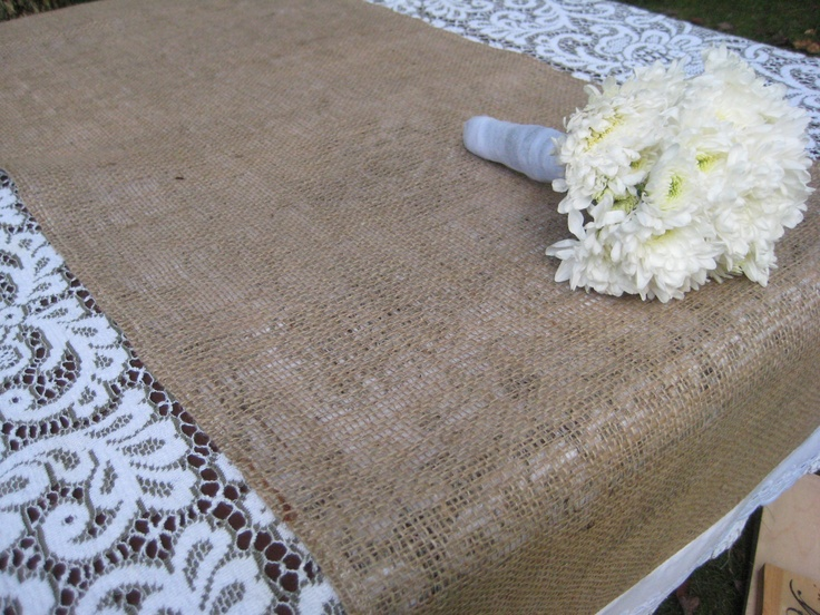Rustic Wedding Decor Burlap Runner. $12.95, via Etsy.