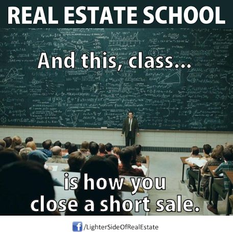 Short Sale 101 Real Estate Humor Pinterest