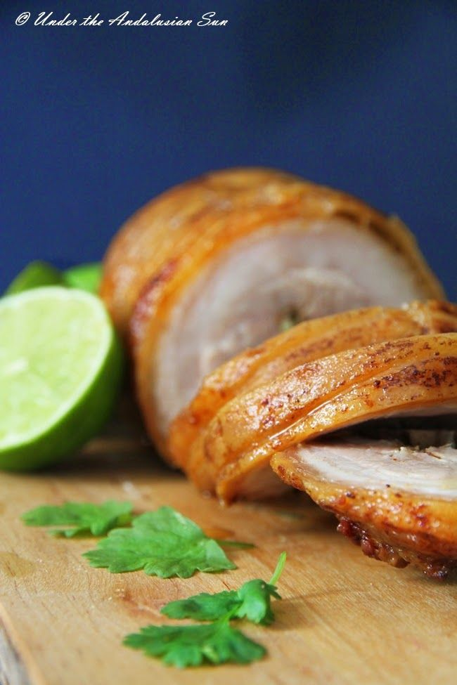 Lechon liempo - roasted pork belly Filippino style (yes, every bit as ...