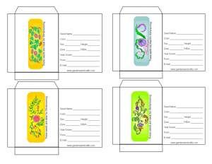 Winter Sowing Seed Packets #1 | Printables | Pinterest