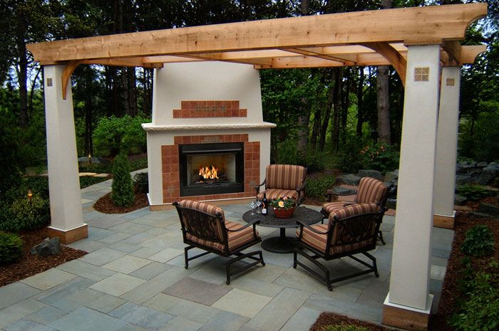 Custom Backyard Patios : outdoor patio design imagescozy outdoor gas fireplace