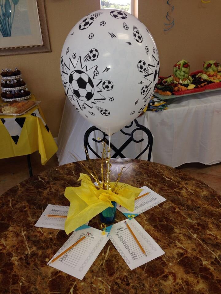 baby shower soccer themes