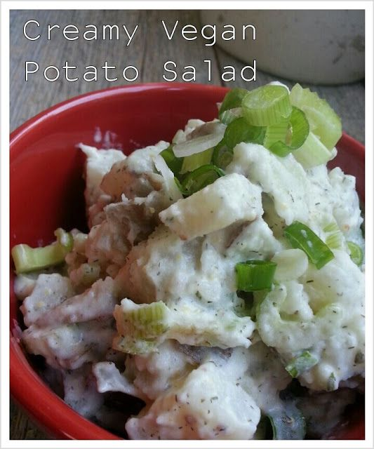 Creamy Vegan Potato Salad for when school serves potato salad