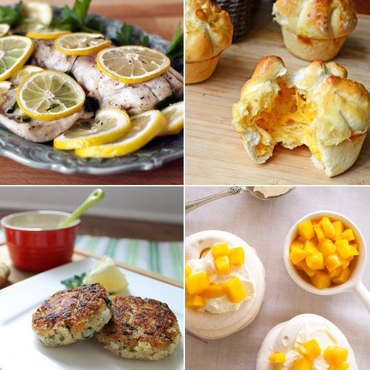 Cheese Muffins & Lemon Parsley Fish — Delicious Links