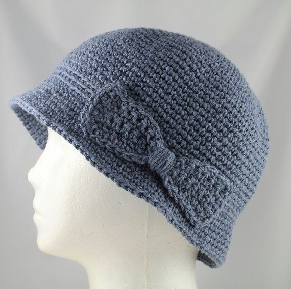 Crocheting Hats For Cancer Patients : Cloche Hat 2 for Cancer Patients by TheCardcraftersCove on Etsy, $30 ...