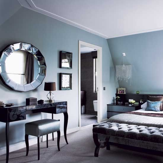 Blue And Silver Living Room Designs : blue silver black bedroom, luuuuuuuush  4. Bedrooms  Pinterest