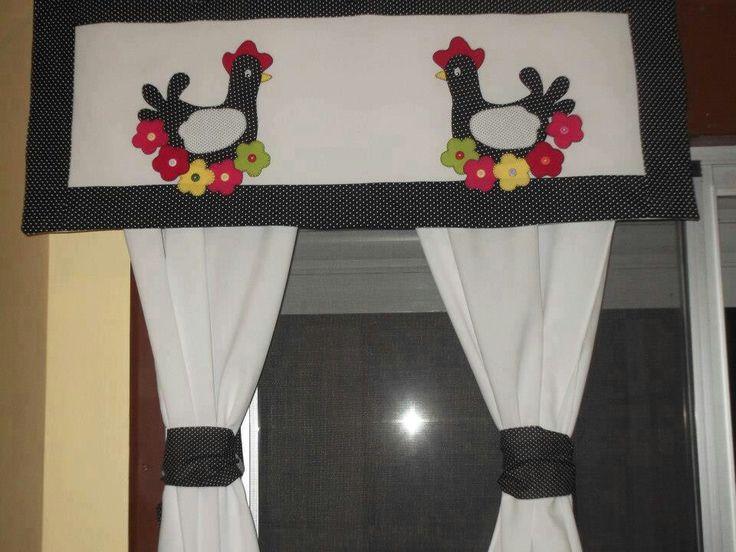 Cortina preciosa para la cocina cortinas pinterest - Cortinas decorativas para cocina ...