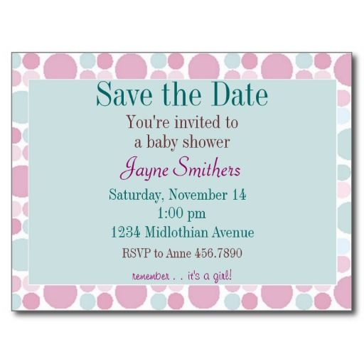 low price save the date baby shower postcard save the date baby shower