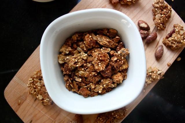 maple almond granola | F O O D | Pinterest