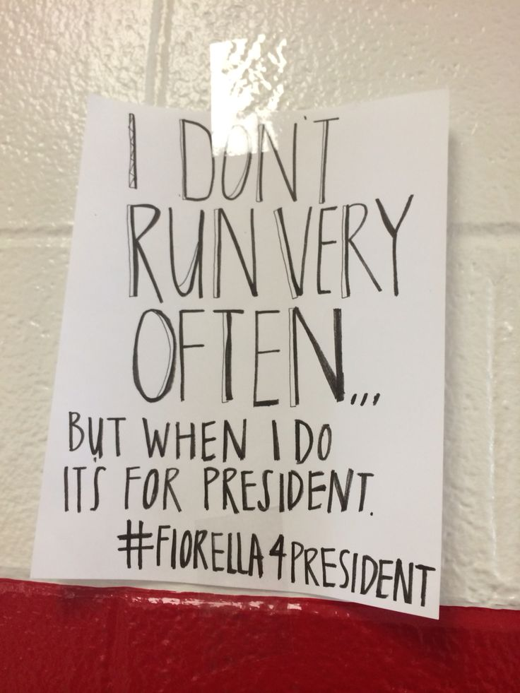 Campaign poster ideas for president