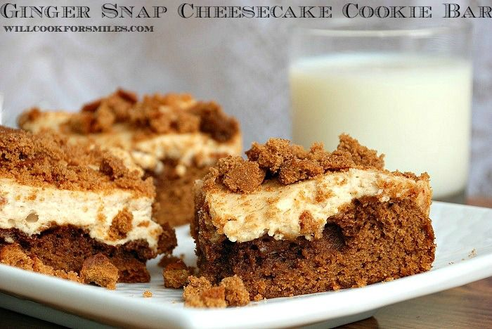 Ginger Snap Cheesecake Cookie Bars | Recipes I Want To Try | Pinterest