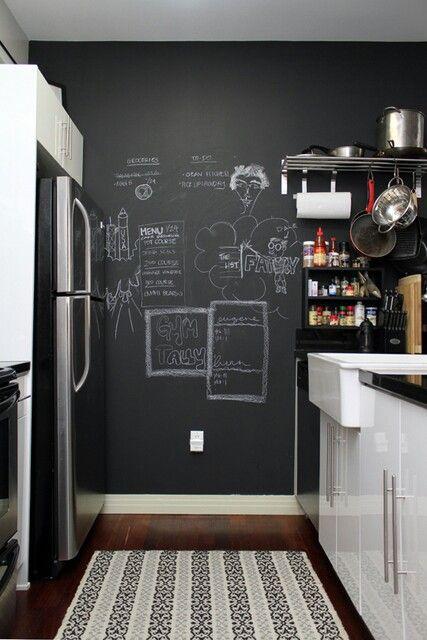 Chalkboard Wall In Kitchen Household Items Pinterest
