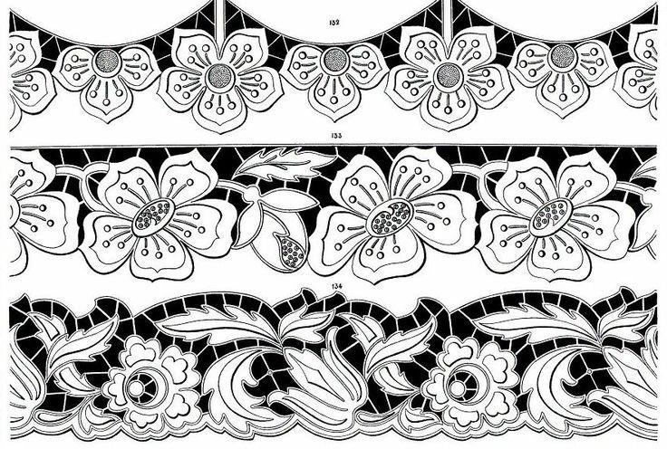 Вышивка ришелье руками схемы шаблоны 338