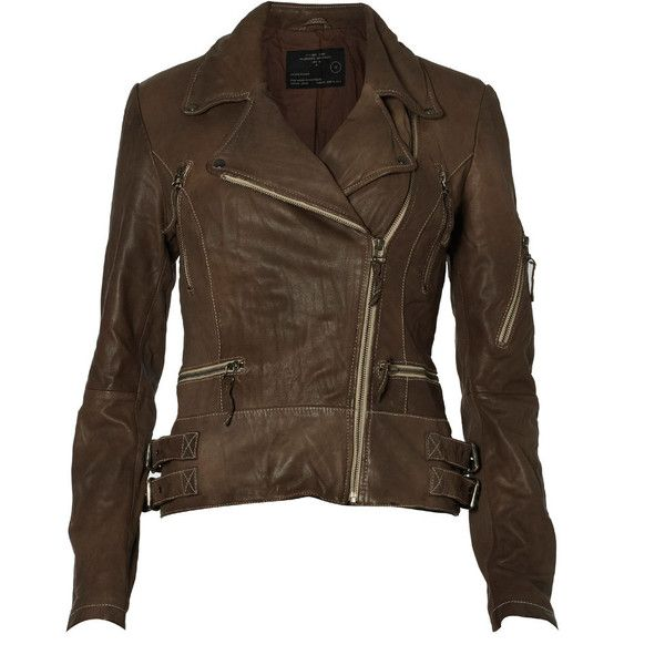 My Polyvore Outfits / Denim Shirt, Leather Pants, Camouflage Jacket