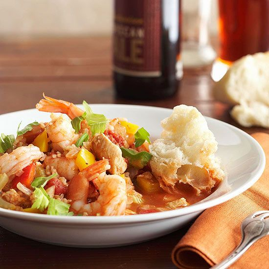 Chicken and Shrimp Jambalaya | crockpot meals | Pinterest
