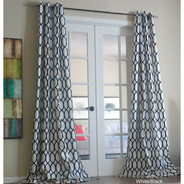 Pebbles Faux Silk Grommet Curtain Panel | Overstock.com