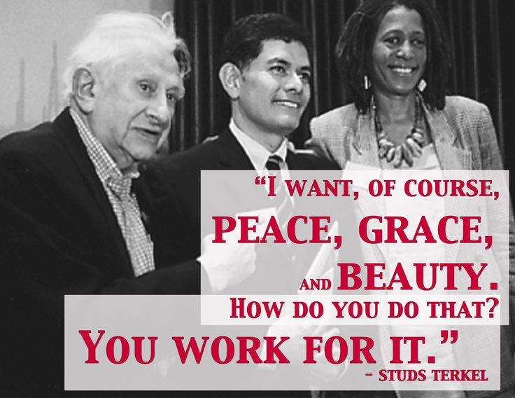 Image result for Studs Terkel Quotes