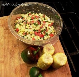 Spicy Cucumber and Sweet Corn Salsa